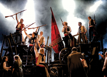 Les Miserables Barricades. Image by Michael Le Poer Trench