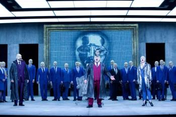 José Carbó as Count Ankarström, Diego Torre as Gustav III, Taryn Fiebig as Oscar & Chorus. Image by Lisa Tomasetti.