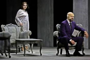 Tamar Iveri as Amelia & José Carbó as Count Ankarström. Image by Prudence Upton.