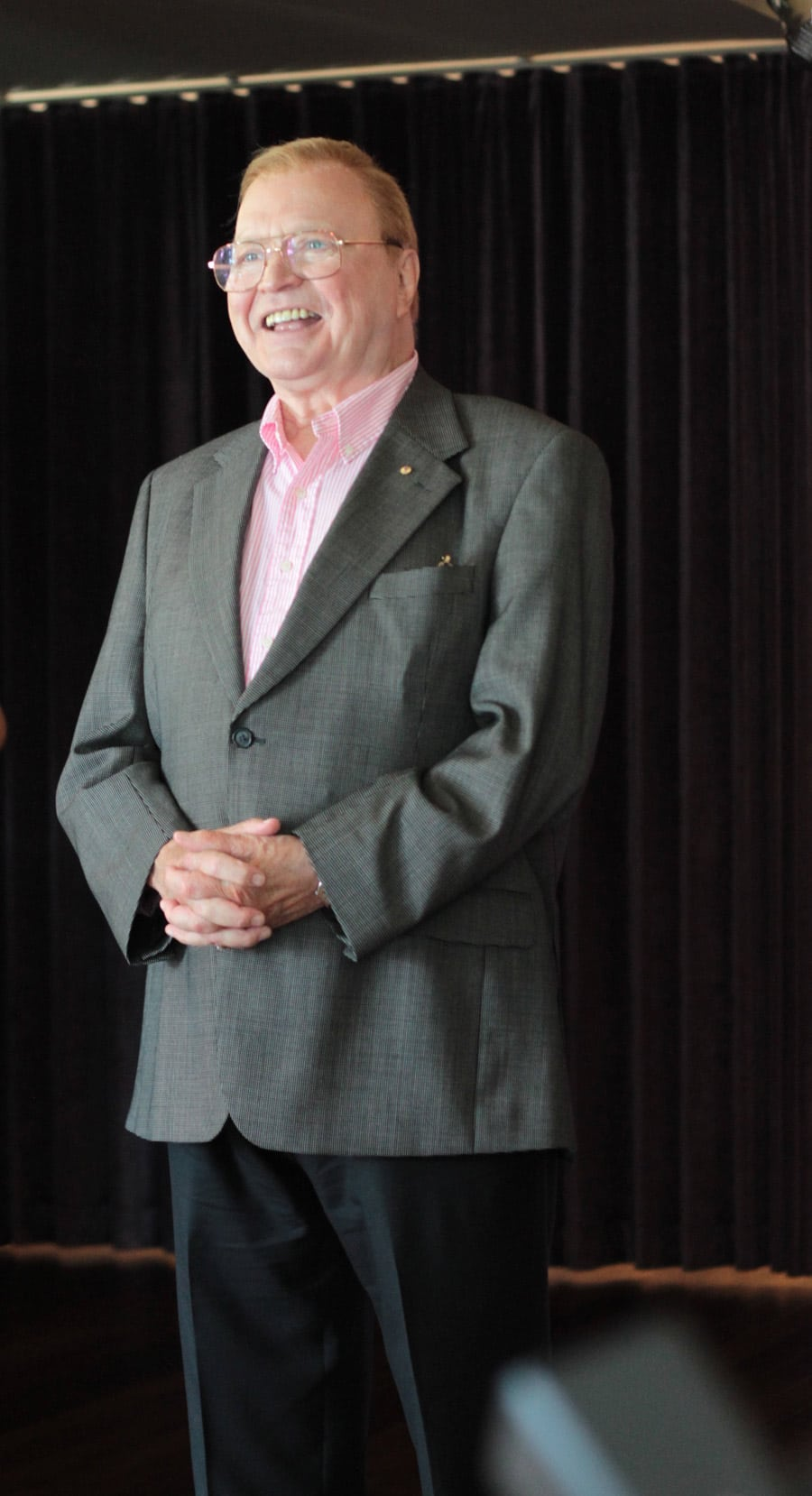 Bert Newton at the launch of Grease. Image by Erin James