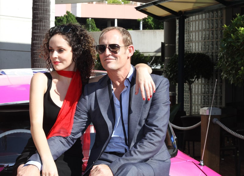 Lucy Maunder and Todd McKenney at the Grease Launch. Image by Erin James