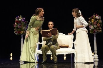 Rebecca Davis, Stuart Halusz and Adriane Daff inThe Importance of Being Earnest. Image by Gary Marsh