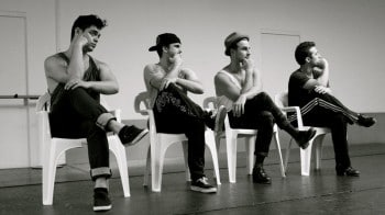 Members of The Tap Pack in rehearsals