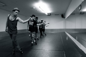 The Tap Pack rehearsing