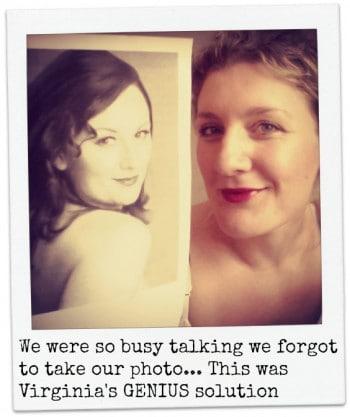 Virginia Gay and Marika Aubrey. Selfie