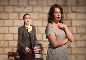 Kate Cheel and Alison Bell in Hedda Gabler. Photo by Shane Reid