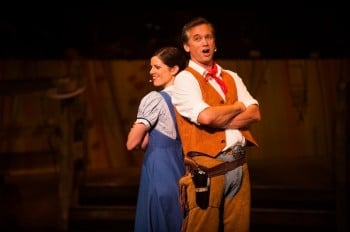 Angela Harding and Ian Stenlake in Harvest Rain's Oklahoma! Image by Trent Rouillon