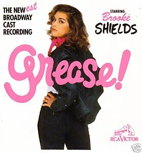 Brooke Shields as Rizzo on an unforgettable album cover.
