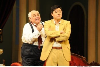 Conal Coad and Ji-Min Park in Don Pasquale. Image by Branco Gaica.