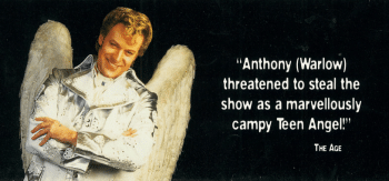 Anthony Warlow as Teen Angel in the 1998 Grease Arena Spectacular