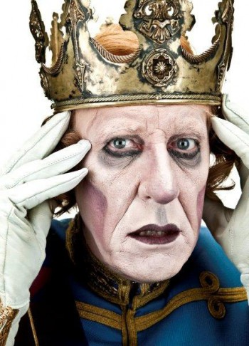 Geoffrey Rush as King Berenger in Exit The King, 2009. Photograph by Hugh Hartshorne