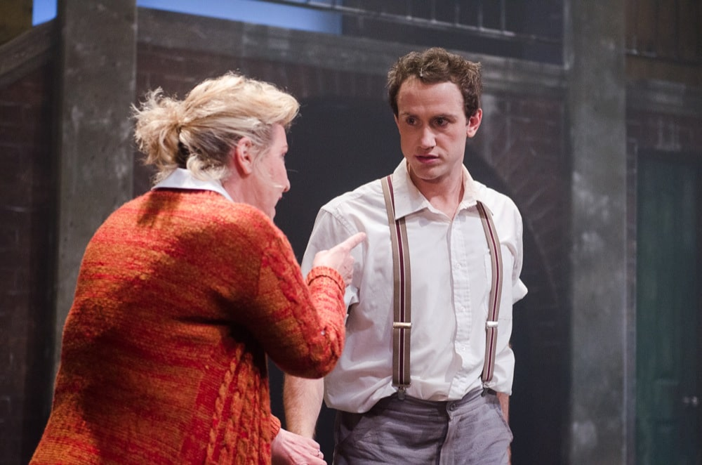 Amanda Muggleton and Zack Curran in Harvest Rain's Blood Brothers. Image by Trent Rouillon