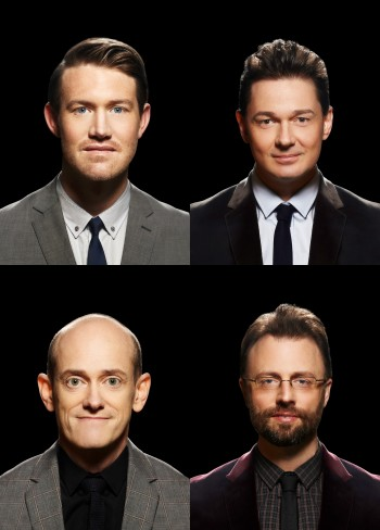 Eddie Perfect, Gatesy (Steven Gates), Yon (Simon Hall), Scod (Scott Edgar)