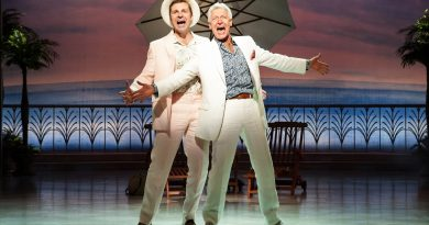 Matt Hetherington and Tony Sheldon in Dirty Rotten Scoundrels. Image by Kurt Sneddon