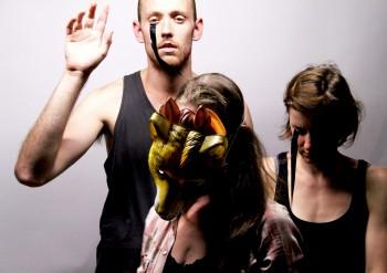 Josh Price, Nikki Shiels and Karen Sibbing in M+M Photo: Daisy Noyes