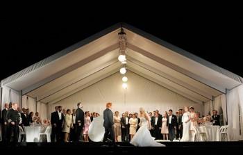 Barry Ryan as Gunther, Daniel Sumegi as Hagen, Stefan Vinke as Siegfried, Sharon Prero as Gutrune, Susan Bullock as Brünnhilde, the Opera Australia Chorus and extras