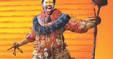 Buyi Zama as Rafiki in The Lion King - Sydney 2013 [Image by Deen van Meer]