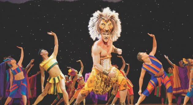 Nick Afoa as Simba – He Lives In You. The Lion King Sydney. Image by Deen van Meer