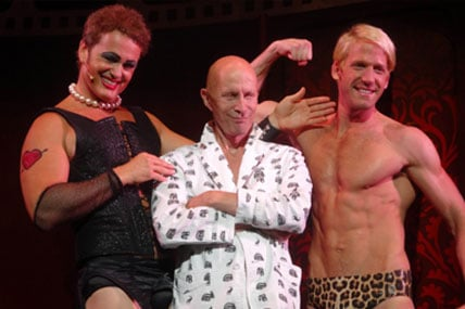 Craig McLachlan and Brendan Irving with Richard O'Brien
