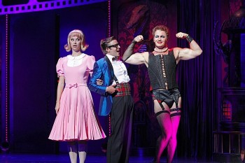 Tim Maddren, Christie Whelan Browne and Craig McLachlan in Rocky Horror Show. Image by Jeff Busby