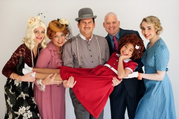 The cast of Annie