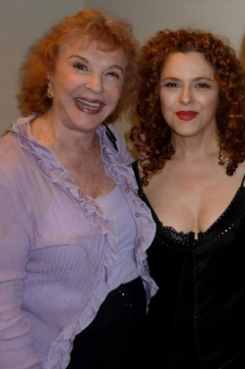 Bernadette Peters and vocal coach Adrienne Angel