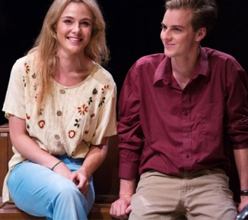 Jessica Marais and Ben Schostakowski in Cosi - La Boite [photography: Dylan Evans]