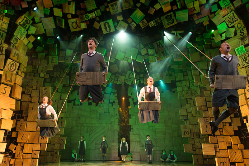 The Royal Shakespeare Company's production of Roald Dahl's Matilda The Musical. Photo by Manuel Harlan