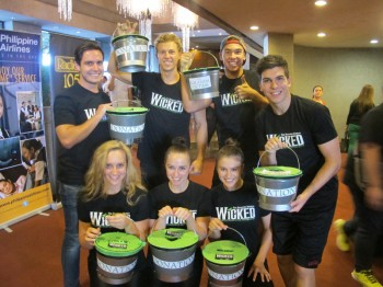 Wicked Manila Cast  fundraising for their special Typhoon Benefit Perforrmance