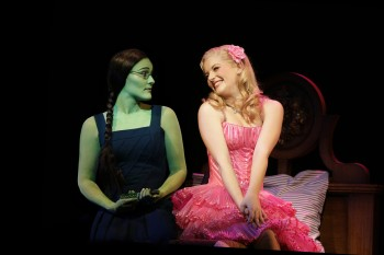 Elphaba (Jemma Rix) and Glinda (Lucy Durack) Photo:  Jeff Busby