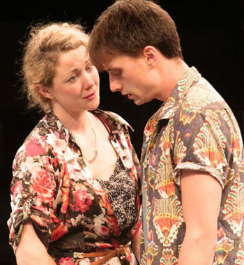 Sophie Ross and Tom Conroy in Cock - La Boite Theatre  [image: Sean Dowling]