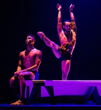Tyrel Dulvarie and Jesse Martin in Danse Noir. [Image - Ali Choudhry]