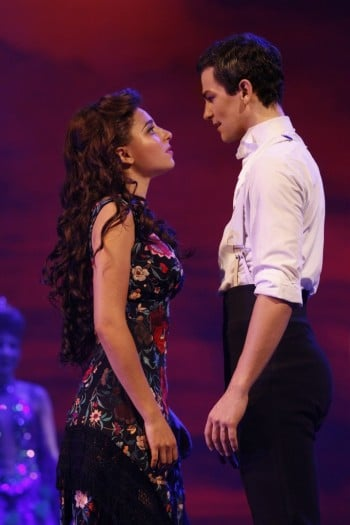 Phoebe Panaretos and Thomas Lacey in Strictly Ballroom. James Morgan Photography.