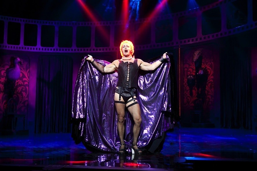 Craig McLachlan as Frank n Furter in Rocky Horror. Image by Belinda Strodder