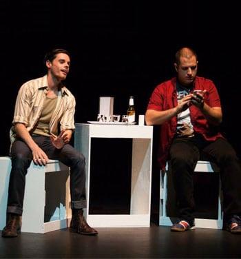 Liam Nunan and Peter Rasmussen in Machina [Image: Nick Morrissey]
