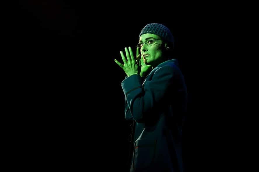 Jemma Rix as Elphaba in WICKED. Image by Belinda Strodder