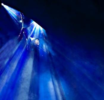 Look to the Western Sky! Jemma Rix as Elphaba, Defying Gravity. Image by  Belinda Strodder