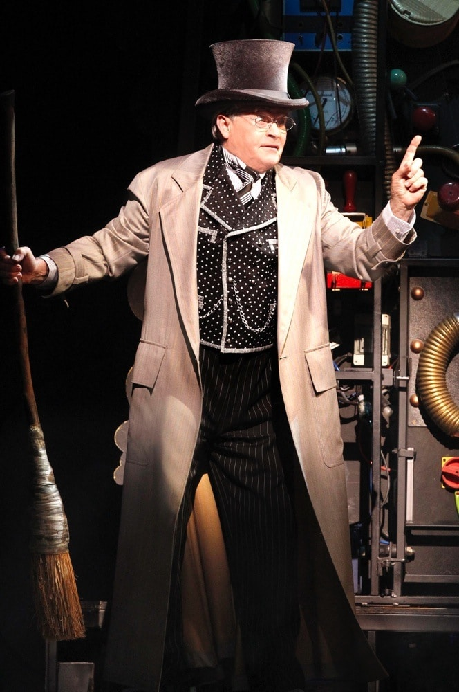 Reg Livermore as the Wizard in WICKED.  Image by  Jeff Busby