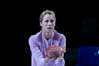 Angie Milliken in STC/QTC's The Effect. Image by Lisa Tomasetti.