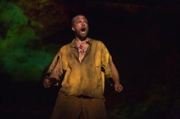 Simon Gleeson as Jean Valjean in Les Miserables. Image by Matt Murphy
