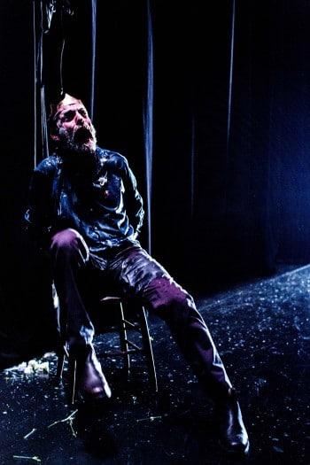 Hugo Weaving as Macbeth for STC. Photo by Brett Boardman.