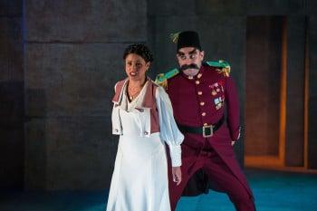 Stacey Alleaume as Pamina and Benjamin Rasheed as Monostatos. Photo credit Albert Comper
