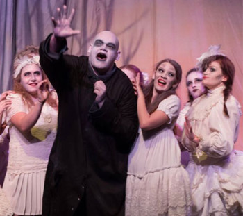 Samuel Thomas-Holland in The Addams Family. [image supplied].