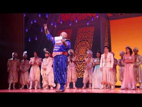 Screen shot from YouTube Vidwo Genie Tribute - Aladdin On Broadway