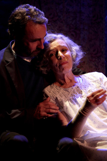 Anna Volska and James Lugton in Unholy Ghosts. Photo by Danielle Lyonne.