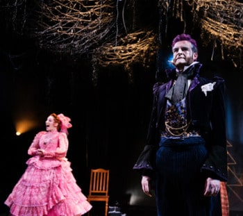 Helen Christinson and Hugh Parker in A Doll's House - La Boite Theatre.<br /> [image: Dylan Evans]