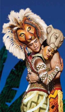 Nick Afoa as Simba and Josslynn Hlenti as Nala in The Lion King. [image supplied]