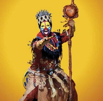 The Lion King - Buyi Zama (Rafiki), Australian Production, Photo Michelle Aboud ©Disney