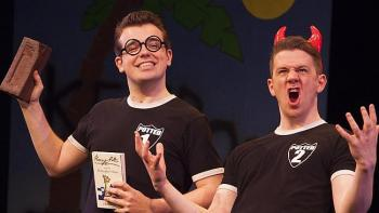 Ben Stratton and James Percy in Potted Potter. Image by Tony Kinlan.