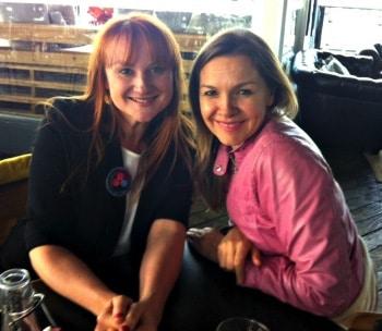 Marika Aubrey and Justine Clarke
